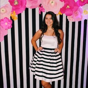 Sherri Hill Striped Homecoming Dress